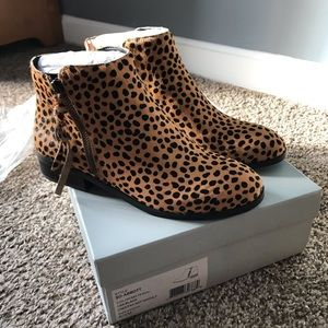Brand new Sole Society Leopard booties